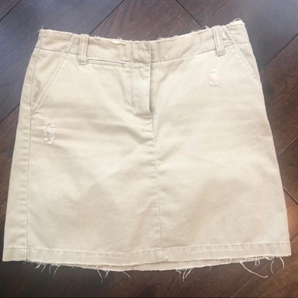 J. Crew Dresses & Skirts - J.Crew distressed khaki skirt